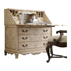 Hooker Furniture - Hooker Furniture Seven Seas Handpainted Secretary Desk - Hooker Furniture - Secretary Desks - 50050833 -
