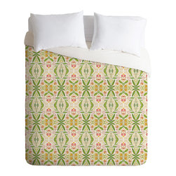 DENY Designs - DENY Designs Cori Dantini Leafy Diamond Duvet Cover - Lightweight - Turn your basic, boring down comforter into the super stylish focal point of your bedroom. Our Lightweight Duvet is made from an ultra soft, lightweight woven polyester, ivory-colored top with a 100% polyester, ivory-colored bottom. They include a hidden zipper with interior corner ties to secure your comforter. It is comfy, fade-resistant, machine washable and custom printed for each and every customer. If you're looking for a heavier duvet option, be sure to check out our Luxe Duvets!