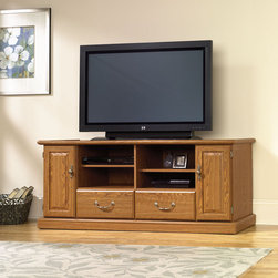 """Sauder - Orchard Hills 60"""" TV Stand - American country style that provides endless versatility ..."""