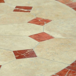 "Livingroc - Patio Round 49""   63"" Mosaic Marble dining table - ALICANTE -"
