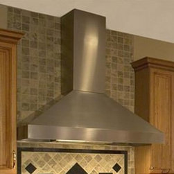 """Vent-A-Hood - Euroline Pro Series EPH18-236SS 36"""" Chimney Style Wall Mount Range Hood With 600 - Vent-A-Hood makes the perfect range hood for today39s motion-filled kitchen They are unmatched at whisking grease and heat-polluted air away from your cooking area Powerful enough for heavy-duty professional-style cooking equipment and proven quieter..."""