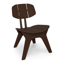 Loll Designs - Coco Chair, Chocolate Brown - Designed with Christopher Douglas, the Coco Chair is a relaxed, modern lounger that is equally agreeable on your hardwoods or roof deck. With contoured slats that form both the seat and back, the Coco Chair will fit you and your guests like your favorite corduroy blazer.