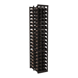 Wine Racks America - 3 Column Double Deep Cellar in Redwood, Black - High capacity double deep wine racks are attractive, functional and efficient. Turn your unused space into wine storage with just one wine rack. Keep 9 cases of wine in only three columns. This wooden wine rack kit is perfect for creating maximum storage capacity from deep but narrow areas like pantries.