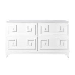 Worlds Away - Worlds Away Werstler White Lacquer 4 Drawer Dresser - Finally!! What our customers have been waiting for, a four drawer dresser that goes with our Pagoda Nightstands and Wrenfield Chest.All drawers on glides.