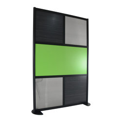LOFTwall - LOFTwall Room Partition LW42 - The LOFTwall Room Partition LW42 has five panels with mix-and-match color choices. Perfect for creating privacy within a larger room, this room divider is made from aluminum.