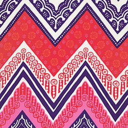 Tangier Frame Print, Cerise - Go dramatic with a chevron wallpaper. I'd love to put this on the wall behind a headboard or a crib.