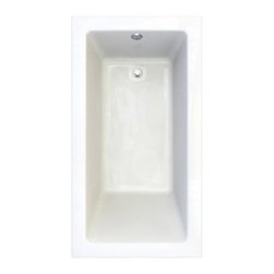 """American Standard - American Standard 2938.002-D0.020 5/8 Inch Profile / White Studio - Product Features:Fully covered under a lifetime warranty; including free lifetime in-home serviceManufactured and assembled in CanadaSoaking tub; basic and easy to installDrop-in installation; tub is dropped into a pre-cut deck or islandConstructed of ultra-durable fiberglass-reinforced acrylicSurfaced with the industry s best stain-blocking high-gloss finishTub proportions and contour designed by industry leading ergonomics engineersSlip-resistant flooring - textured finishing technique appliedSelf-leveling base structural support cuts installation time and costsTub waste (drain) is not included - this will be presented upon adding to cart, with multiple available finishesTechnologies / Benefits:Lifetime Warranty with In-Home Service: This tub is covered under the industry's only Limited Lifetime Warranty with free lifetime in-home service. This speaks volumes to the quality of American Standard tubs.Deep Soak: This patented overflow system works with an exclusive drain, positioned significantly higher within the bathing well. With water depths reaching 2"""" to 4"""" deeper than other bathtubs, Deep Soak tubs allow for better full-body submergence.Self-Leveling Base: A major time-saver during installation, this tub's self-leveling base eliminates the need to fret over a perfectly level base structural support… high-density compressible pads do the work for you, compensating for any imperfections. DIY'ers and contractors both appreciate this feature.Zero Edge: Definitively modern, the Zero Edge exclusive low-profile tub lip is perfect for undermount installations – or a clean, 'barely there' drop-in appearance.Premium Acrylic: Luxury American Standard tubs all use premium acrylic for a reason: it ret"""