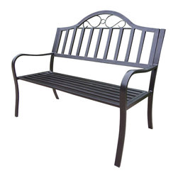 Oakland Living - Oakland Living Rochester Bench in Hammer Tone Bronze - Oakland Living - Outdoor Benches - 6123HB - About this product: