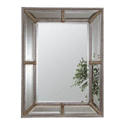 Bassett Mirror - Silver Beveled Rectangle Wall Mirror - Silver Leaf with Bevel - Rectangle. Measures: 38 in. W x 49 in. H.