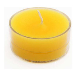 "Jeco - Yellow Citronella Tealight Candles - 50pcs/Pack - ""Traditionally, tealights were used as food warmers. However, tea lights now serve multiple purposes. Line them up at night to create a romantic walkway, or arrange them in tealight holders as a unique centerpiece to complement your dining experience. These tealight candles are hand poured in aluminum cups."