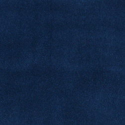 Blue Solid Plain Velvet Upholstery Velvet By The Yard - This is a classic velvet upholstery fabric. It is soft and very durable. In addition, it is easy to clean, made in America and machine washable.