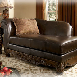 Stylish Seating - North Shore - Dark Brown LAF Corner Chaise