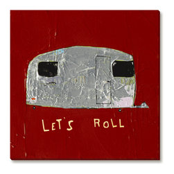 Gallery Direct - Trevor Mikula's 'Let's Roll' Gallery Wrapped Canvas, 30x30 - Trevor Mikula's playful style is sure to delight. This striking giclee print on canvas comes ready to hang. The perfect way to add character and depth to your room, it is printed using archival inks and artist grade canvas.