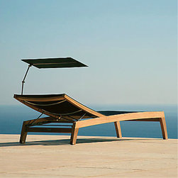 Horizon Teak Chaise - Why not give her the gift of a relaxing perch?