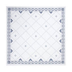 Huddleson Linens - Anfa Blue and White Linen Square Tablecloth - Finally a tablecloth that is both simple enough for casual occasions and refined enough for the most formal of affairs. The Moroccan tile motif is printed on fine Italian linen and perfect for your little tea party with girlfriends or grand dinner party with the boss. So sweet and refined, it'll surely become your go-to tablecloth for years to come.