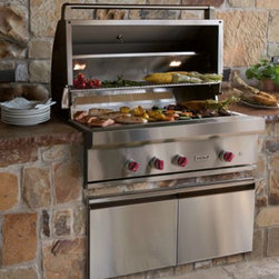 "Wolf 42"" Outdoor Gas Grill - If you have a Subzero indoor unit and love it, why not use one for the outdoors too? These high quality grills are the best of the best — the stuff of professional cooks everywhere — but are also incredibly easy to use. Can be used as a built-in, or a free standing cart."