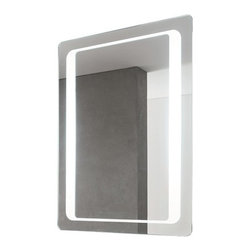 Nameeks - Vanita and Casa Lighted Vanity Mirror 8060-701S | Nameeks - Made in Italy. A part of Vanita & Casa by Nameek's.The Vanita and Casa Lighted Vanity Mirror 8060-701S provides an optimal blend of modern aesthetics and uncompromised functionality. This lighted mirror includes fluorescent lights to offer enhanced lighting to your bath. The built-in defogger allows this striking mirror to preserve its crystal-clear reflection even in steamy rooms. This mirror comes with an on/off switch, which allows you to use the lights only when required. The Vanita and Casa Lighted Vanity Mirror 8060-701S also offers safety PVC packing that eliminates the risk of shattered glass and direct wire. Product Features: