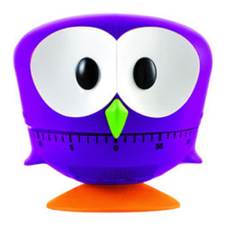 Maxiga - Timer Owl, Violet - These little cuties will always let you know when your time is up! Times up to 60 minutes, so you can rest at ease while the Timer Owl counts down for you. A wonderful gift for your favorite chef!