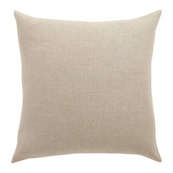 Barn & Willow - Belgian Linen Pillow Cover - Flax, 20 X 20 - Our Belgian linen pillow is made from flax grown and woven into linen in the finest mills of Belgium. It is known for its quality, impeccable weave and finish. Inspired by the grain-sack look this throw pillow cover is rustic at it's core and the most natural in character.