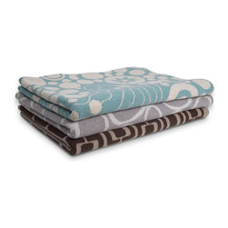 angela adams Wool Knit Throws - Cozy up with modern and luxurious lambswool knit throws.