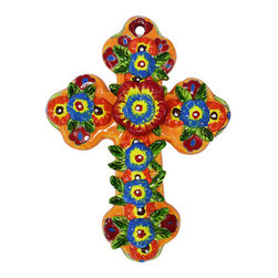 Multicolor Holy Cross - Flowered and colorful cross.
