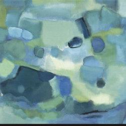 Artcom - Ocean Song by Nancy Ortenstone Artwork - Ocean Song by Nancy Ortenstone is a Stretched Canvas Print.