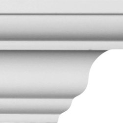 uDecor - CM-1027 Crown Molding - Crown molding is manufactured with a dense architectural polyurethane compound (not Styrofoam) that allows it to be semi-flexible and 100% waterproof. This molding is delivered pre-primed for paint. It is installed with architectural adhesive and/or finish nails. It can also be finished with caulk, spackle and your choice of paint, just like wood or MDF. A major advantage of polyurethane is that it will not expand, constrict or warp over time with changes in temperature or humidity. It's safe to install in rooms with the presence of moisture like bathrooms and kitchens. This product will not encourage the growth of mold or mildew, and it will never rot.