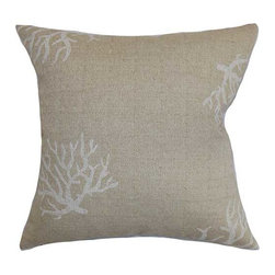 The Pillow Collection - Jessamine Gray 18 x 18 Coastal Throw Pillow - - Pillows have hidden zippers for easy removal and cleaning  - Reversible pillow with same fabric on both sides  - Comes standard with a 5/95 feather blend pillow insert  - All four sides have a clean knife-edge finish  - Pillow insert is 19 x 19 to ensure a tight and generous fit  - Cover and insert made in the USA  - Spot clean and Dry cleaning recommended  - Fill Material: 5/95 down feather blend The Pillow Collection - P18-PP-CORAL-DENTONCLOUD-CC100