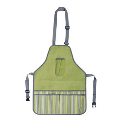 Esschert Design - Garden Apron - Just because you're tied to apron strings doesn't mean you aren't independent. This handsome garden apron offers, among other amenities, a separate pocket exactly sized to accommodate your phone. So as you dutifully go about your chores, an easy escape is always at hand.
