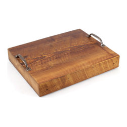 Union Wood Co. Serving Tray - The great thing about date night is being able to eat on the couch. I love this rustic, more masculine tray; you could carry your dinner or drinks on it or use it as a cheese board for a sumptuous snack.
