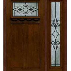 """Prehung Sidelight Door 80 Fiberglass Salento Craftsman GBG Glass - SKU#MFC63DCWSA_DFCRSA1-1BrandGlassCraftDoor TypeExteriorManufacturer CollectionCraftsman DoorsDoor ModelSalentoDoor MaterialFiberglassWoodgrainVeneerPrice3820Door Size Options36"""" + 14""""[4'-2""""]  $036"""" + 12""""[4'-0""""]  $0Core TypeDoor StyleCraftsmanDoor Lite StyleDoor Panel Style2 PanelHome Style MatchingCraftsmanDoor ConstructionPrehanging OptionsPrehungPrehung ConfigurationDoor with One SideliteDoor Thickness (Inches)1.75Glass Thickness (Inches)Glass TypeDouble GlazedGlass CamingGlass FeaturesTempered glassGlass StyleGlass TextureGlass ObscurityDoor FeaturesDoor ApprovalsEnergy Star , TCEQ , Wind-load Rated , AMD , NFRC-IG , IRC , NFRC-Safety GlassDoor FinishesDoor AccessoriesWeight (lbs)418Crating Size25"""" (w)x 108"""" (l)x 52"""" (h)Lead TimeSlab Doors: 7 Business DaysPrehung:14 Business DaysPrefinished, PreHung:21 Business DaysWarrantyFive (5) years limited warranty for the Fiberglass FinishThree (3) years limited warranty for MasterGrain Door Panel"""
