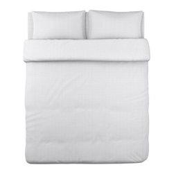 OFELIA VASS Duvet cover and pillowcase(s) - Duvet cover and pillowcase(s), white