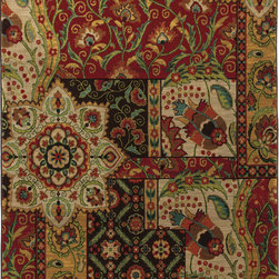 """Karastan - Karastan Carmel 74700-13124 (Monte Vista Crimson) 2'4"""" x 8'3"""" Rug - Floral motifs, sophisticated graphic patterns and modern damasks take center stage in the Carmel collection. Styled for today's relaxed living these fashion inspired patterns feature color palettes that are decorator friendly and offer the consumer an easy decorating choice."""