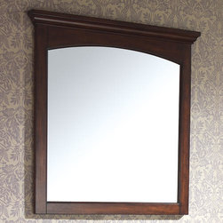 """36"""" Vermont Vanity Mirror - Mahogany - This sleek and simple vanity mirror is designed to perfectly complement the Vermont Vanity Cabinet. Its classic design coordinates well with traditional and vintage-inspired bathrooms."""