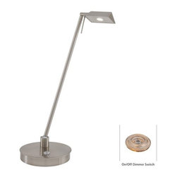 Kovacs - Kovacs P4316-084 1 Light LED Desk Lamp in Brushed Nickel George's Readi - Single Light Desk Lamp in Brushed Nickel from the George's Reading Room-Bivouac CollectionFeatures:
