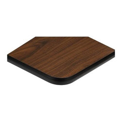 ATS - Reversible Radius Corner Table Tops - 2 Pc Set (30 x 42) - Choose Size: 30 x 42. Ideal for office use, this set of two reversible table tops will be a budget friendly addition to any space. Also perfect for schools, restaurants or other commercial facilities, the table tops have black edges and rounded corners for added visual interest and are available in your choice of sizes. 2 in. radius corners standard. Reversible table top. Pack 2 per box. Oak, Walnut & Dark Mahogany. Black edge finish. 24 in. L x 24 in. W (17 lbs.). 24 in. L x 30 in. W (21 lbs.). 24 in. L x 42 in. W (30 lbs.). 30 in. L x 30 in. W (26 lbs.). 24 in. L x 48 in. W (34 lbs.). 24 in. L x 45 in. W (32 lbs.). 30 in. L x 42 in. W (37 lbs.). 30 in. L x 45 in. W (38 lbs.). 30 in. L x 48 in. W (43 lbs.). 36 in. L x 36 in. W (38 lbs.). 24 in. R (17 lbs.). 30 in. R (21 lbs.). 36 in. R (38 lbs.)