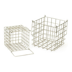 Wire Market Baskets - Set of Two - Make the most out of your storage with our set of two Wire Market Baskets. Perfect for storing everything from produce to bathroom essentials, they are subtle, but still stylish.