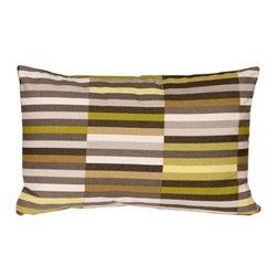 Pillow Decor - Pillow Decor - Waverly Side Step Avocado 12 x 20 Throw Pillow - The Waverly Side Step Throw Pillow offers you a fresh print pattern that is eclectic and modern. The design is a striking retro graphic that will bring any room to life. The pillow is made from a 100% cotton medium weight fabric. It is double sided with the pattern on the back and front, and is finished with a matching color zipper. This pillow is fantastic alongside other solid color throw pillows. You have so many shades to mix and match from the pillows vibrant color palette.