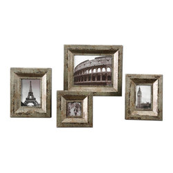 Uttermost - Uttermost 18516 Camber Champagne Silver Picture Frames - Uttermost 18516 Camber Champagne Silver Picture Frames