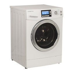 None - EdgeStar 2.0 Cubic Foot White Ventless Washer Dryer Combo - Wash and dry your clothes without taking up too much space in your home with this efficient washer and dryer combo. This unique ventless system features cyclonic action dryer technology, a built-in water heater and a wide variety of settings.