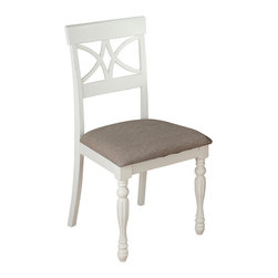 Jofran - Jofran 693-154KD Chesterfield Tavern Scroll Back Side Chair (Set of 2) - The Chesterfield Tavern collection will add a country-Chic look to your casual dining space. With eye-Catching details such as fluted legs, beautiful two-toned antiqued tables, detailed scroll and splat back side chairs and a server that boasts plenty of room for your serving essentials this set will add a lot of character to your room. Choose from two table types and two beautiful colors: antique white or antique black.