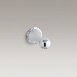KOHLER - KOHLER Finial(R) robe hook - With sleek, sculptural lines and classic detailing, Finial Traditional faucets and accessories bring elegance to your bath or powder room. This graceful robe hook offers a practical location for hanging towels or garments in your bathing area.