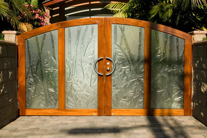 Contemporary Front Doors by MZ3D