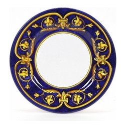 Artistica - Hand Made in Italy - PRINCIPATO: Dinner Plate - Masterfully hand painted our Principato design features a refined design exclusively available in the USA only throughout Artistica!