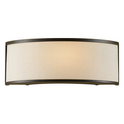 Murray Feiss - Murray Feiss Stelle Transitional Wall Sconce X-BRO1641BW - This Murray Feiss wall sconce would easily blend in with a variety of spaces thanks to its clean lines and neutral colors. From the Stelle Collection, it features a dark Oil Rubbed Bronze finish that accentuates the shape of the fixture while a cream linen fabric adds a subtle modern touch that pulls the look together.