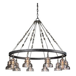 Menlo Park Iron and Brass 42 1/2-Inch-W Troy Chandelier -