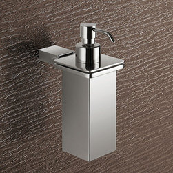 """Gedy by Nameeks - Kansas Wall Mounted Stainless Steel Soap Dispenser - Features: -Wall mounted stainless steel soap dispenser. -Kansas collection. -Chrome finish. Dimensions: -6.69"""" H x 2.64"""" W x 4.57"""" D."""