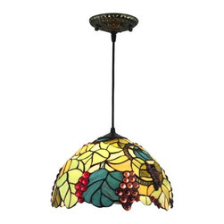 Tiffany Fruit Harvest Stained Glass Home Pendant Lightings - Tiffany Fruit Harvest Stained Glass Home Pendant Lightings. Each Tiffany lamps from ParrotUncle is handmade by skilled craftsmen, not mass- or machine-produced. All stained leaded glass lampshades are designed in particular drawing. Cut the glass, smooth them and assemble with handwork. Hand formed steel frames looks antique, adding a touch of elegance and timeless atmosphere to any room.
