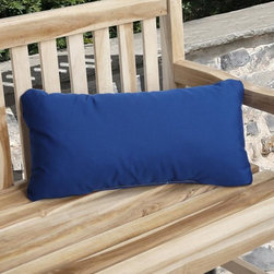 None - Charisma Indoor/ Outdoor True Blue Pillow made with Sunbrella - Take basking in the sun and lounging the day away to a stylish new level with this outdoor Sunbrella pillow. This pillow is sized just right for propping up sun-worshiping heads and necks and is crafted from all-weather,UV-resistant Sunbrella material.