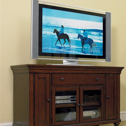Hooker Furniture - 56 in. Entertainment Console - TV not included. One drawer. Four compartments. 56 in. W x 21 in. D x 34.25 in. H